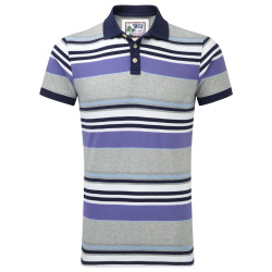 Jersey Cotton Striped Polo Shirt