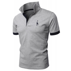 Mens Fine Cotton Giraffe Polo Shirts